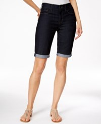 Nydj Briella Cuffed Dark Enzyme Wash Bermuda Shorts