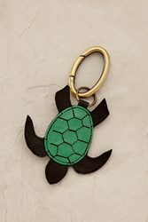 Anthropologie Tropical Turtle Keychain Green