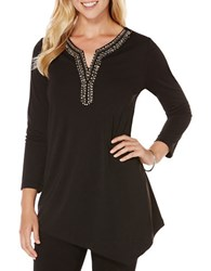 Rafaella Embellished Asymmetrical Top