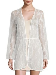 In Bloom Sheer Lace Chemise Ivory