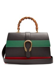 Gucci Dionysus Bamboo Handle Large Leather Tote Black