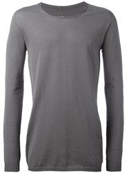 Rick Owens Scoop Neck Jumper Grey