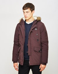 The Idle Man Nylon Parka Burgundy