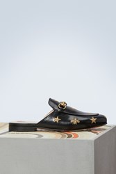 Gucci Princetown Bee Mules Black