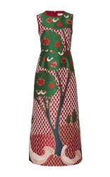 Red Valentino Jacquard A Line Dress Multi