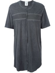 Lost And Found Rooms Asymmetric Oversized T Shirt Grey