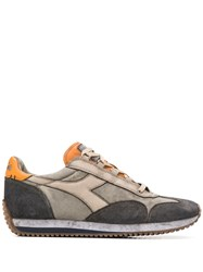 Diadora Equipe H Dirty Low Top Canvas Trainers Grey