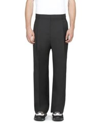 Givenchy Striped Wool Blend Trousers Black