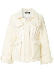 Undercover Short Shearling Jacket White