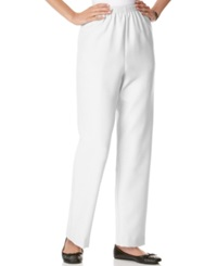 Alfred Dunner Pull On Straight Leg Pants White