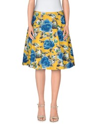 Marc By Marc Jacobs Skirts Knee Length Skirts Women Yellow