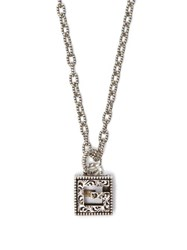 Gucci G Motif Sterling Silver Necklace Silver
