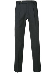 Entre Amis Creased Tapered Trousers Grey