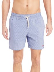 Barbour Striped Swim Trunks Blue