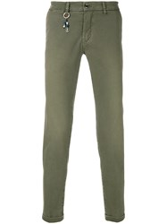 Re Hash Slim Fit Cropped Trousers Green