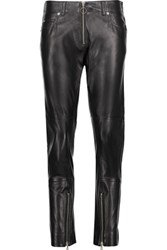 Maison Martin Margiela Mm6 Leather Skinny Pants Black