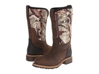Ariat Hybrid All Weather Steel Toe R Toe Oily Distressed Brown Camo Neoprene Cowboy Boots Black