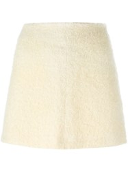 Dolce And Gabbana Vintage Boucle Mini Skirt Nude And Neutrals