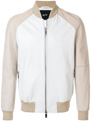 Blood Brother Trainer Bomber Jacket White