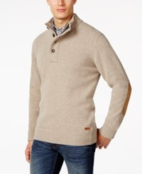 Barbour Four Button Mock Collar Wool Sweater