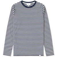 Norse Projects Long Sleeve Svali Military Stripe Tee Blue