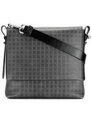 Salvatore Ferragamo Gancio Printed Crossbody Bag Grey