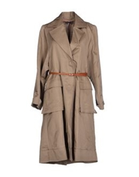 Liviana Conti Full Length Jackets Khaki
