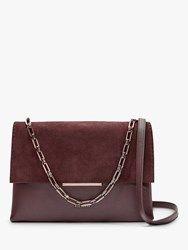 Ted Baker Rhetaa Bar Detail Leather Shoulder Bag Red