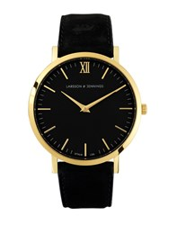Larsson And Jennings Lugano 40Mm Gold Black Leather