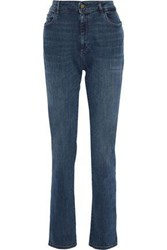 Dl1961 Woman Coco Faded Mid Rise Straight Leg Jeans Mid Denim