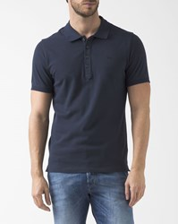Diesel Navy Blue Small Logo Heal Polo Shirt