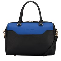 Smith And Canova Polly Twin Strap Bowling Bag Black Blue Black And Blue