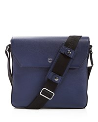 Mcm Maxmin Messenger Bag Navy Blue