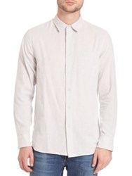 Rag And Bone Beach Button Down Shirt Ivory Black