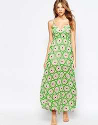 Traffic People Cami Maxi Dress In Watermelon Print Watermelon