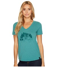 United By Blue Short Sleeve Bike Trail Teal Clothing Blue