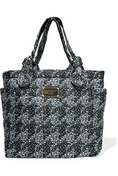 Marc By Marc Jacobs Little Tate Printed Quilted Shell Tote Black