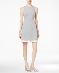 Maison Jules Pleated Contrast Dress Only At Macy's Heather Grey