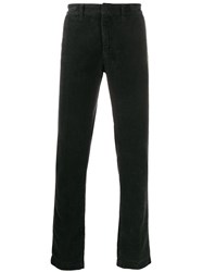 Massimo Alba Corduroy Straight Leg Trousers Grey