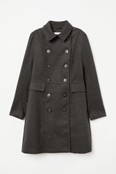 Handm H M Double Breasted Coat Gray