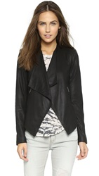Bb Dakota Harper Leather Jacket Black