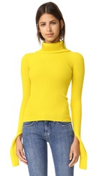Jacquemus Turtleneck Top Yellow