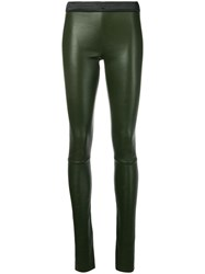 Drome Panelled Leggings Green