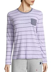 Sundry Striped Long Sleeve Tee Candy