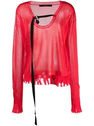 Diesel M Alpy A Knitted Top Red