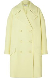 Givenchy Double Breasted Wool Coat Yellow
