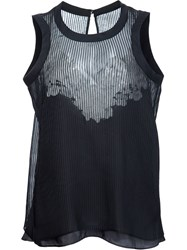 Sacai Pleated Tank Top Black