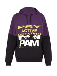 Pam Halfway Cotton Hooded Sweatshirt Purple