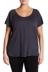 Z By Zella Scoop Neck Tee Plus Size Gray