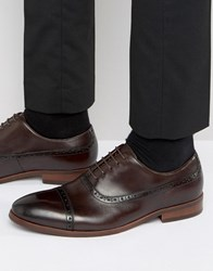 Dune Promise Leather Brogues Brown